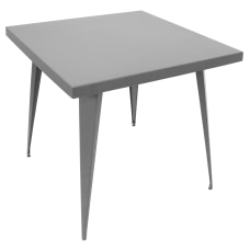 Lumisource Austin Industrial Dining Table Square