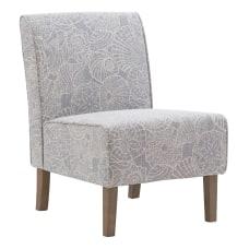 Linon Roxy Script Accent Chair Rustic