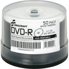SKILCRAFT Laser Printable DVD R Recordable
