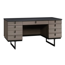 Sauder International Lux Executive Desk Diamond