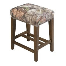 Linon Tomer Backless Counter Stool BrownMossy