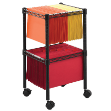 Safco Mobile Wire 2 Tier Compact
