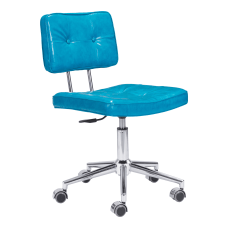 Zuo Modern Series Office Chair BlueChrome