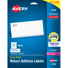 Avery Easy Peel White Laser Address