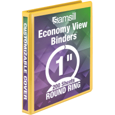 Samsill Economy View Binder 1 Rings
