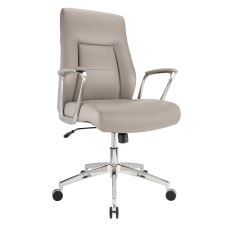 Realspace Modern Comfort Delagio Bonded Leather