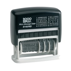 2000 PLUS Date Phrase Dater Stamp