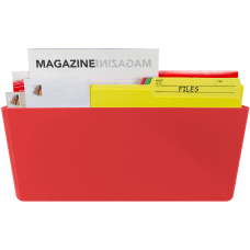 Storex Magnetic Wall Pocket Red 1Each
