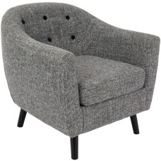 LumiSource Rockwell Accent Chair BlackDark Gray