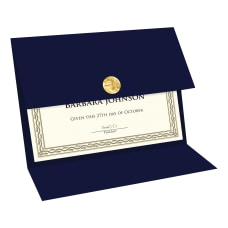 Geographics Double fold Certificate Holder Navy