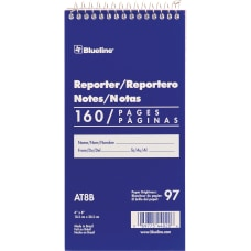 Blueline Reporter Notebook 160 Sheets Spiral