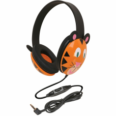 Califone Kids Stereo PC Headphones Tiger