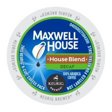 Maxwell House House Blend Decaf Single