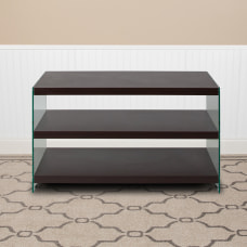 Flash Furniture TV Stand With Glass