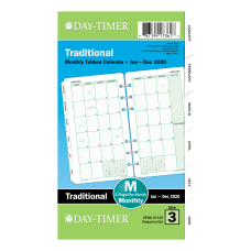Day Timer Classic Monthly Refill Portable