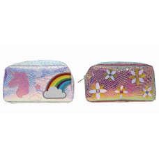 Inkology Sequin Pet Pencil Pouches Assorted