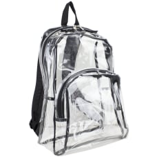 Eastsport Clear PVC Backpack Black