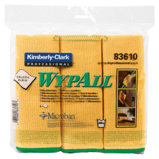 Wypall Microfiber Cloths Yellow Pack Of