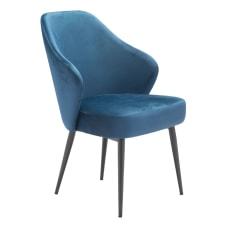 Zuo Modern Savon Dining Chairs Navy