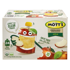 Motts Organic Applesauce Pouches 32 Oz