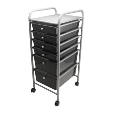 Advantus MetalPlastic 6 Drawer Mobile Organizer
