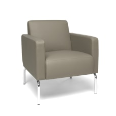 OFM Triumph Series Lounge Chair TaupeChrome