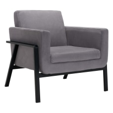 Zuo Modern Homestead Lounge Chair GrayBlack