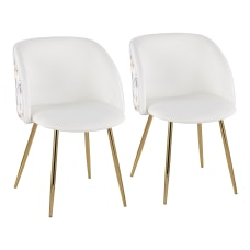 LumiSource Fran Floral Chairs Floral White