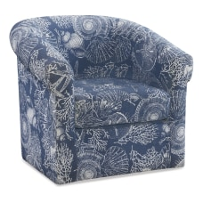 Powell Darcy Swivel Club Chair Ocean