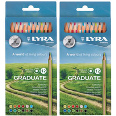 Dixon Lyra Graduate Colored Pencils 38