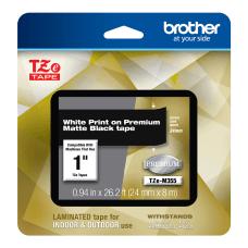 Brother TZE Premium Matte Laminated Tape