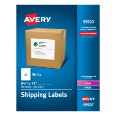Avery Bulk Shipping Labels 95920 8