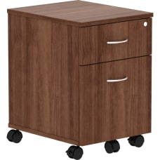 Lorell Relevance Walnut Laminate Mobile Pedestal