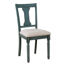 Powell Maillet Side Chairs Teal BlueLight