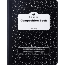 Sparco College Ruled Composition Notebook 100
