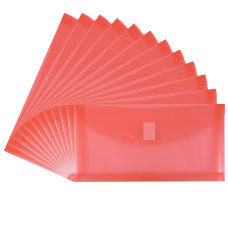 JAM Paper Plastic Envelopes with Hook