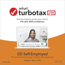 TurboTax LIVE Online Self Employed 2020