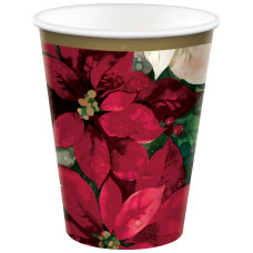 Amscan Christmas Poinsettia Paper Cups 9