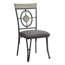 Powell Mosley Side Chairs BlackNaturalGray Set