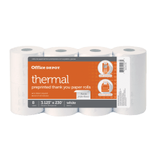 Office Depot Brand Thermal Preprinted Thank