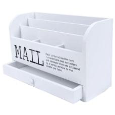Juvale 3 Tier Wooden Mail Desktop