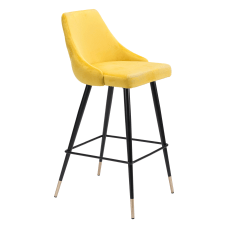 Zuo Modern Piccolo Bar Chair Yellow