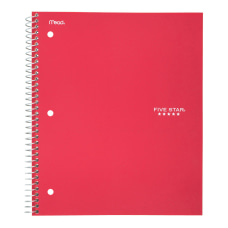 Five Star Notebook 1 Subject College
