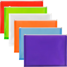 JAM Paper Plastic Envelopes With Zipper