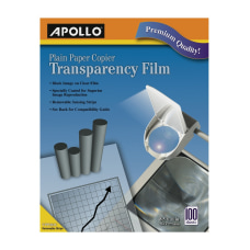 Apollo Plain Paper Copier Transparency Film