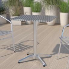 Flash Furniture Square Aluminum IndoorOutdoor Table