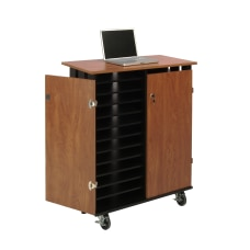 Oklahoma Sound Laptop ChargingStorage Cart CherryBlack