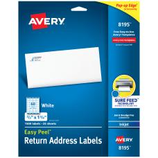 Avery Easy Peel Permanent Inkjet Address