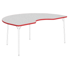 Lorell Classroom Kidney Shaped Activity Table
