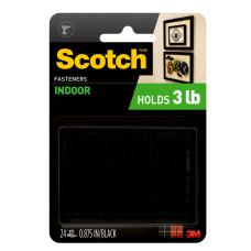 Scotch Recloseable Fasteners Black 78 x